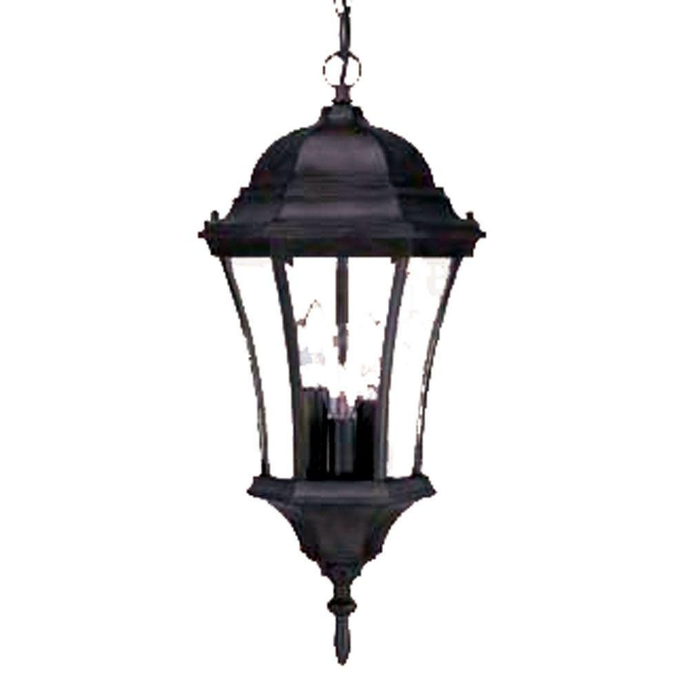 Acclaim Lighting Brynmawr Collection 3 Light Outdoor Matte Black In Motion Sensor Outdoor Hanging Lights (View 2 of 15)