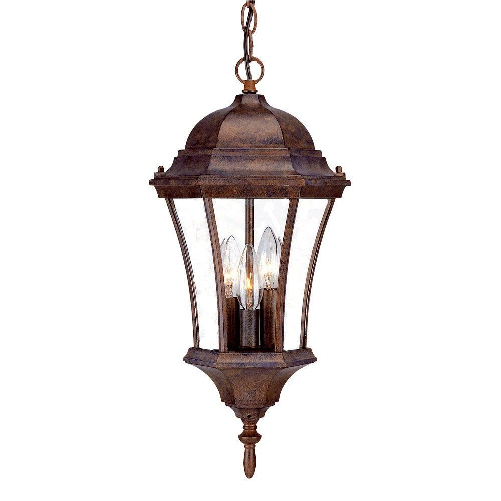 Acclaim Lighting Brynmawr Collection Hanging Lantern 3 Light Outdoor Intended For Outdoor Hanging Carriage Lights (#3 of 15)