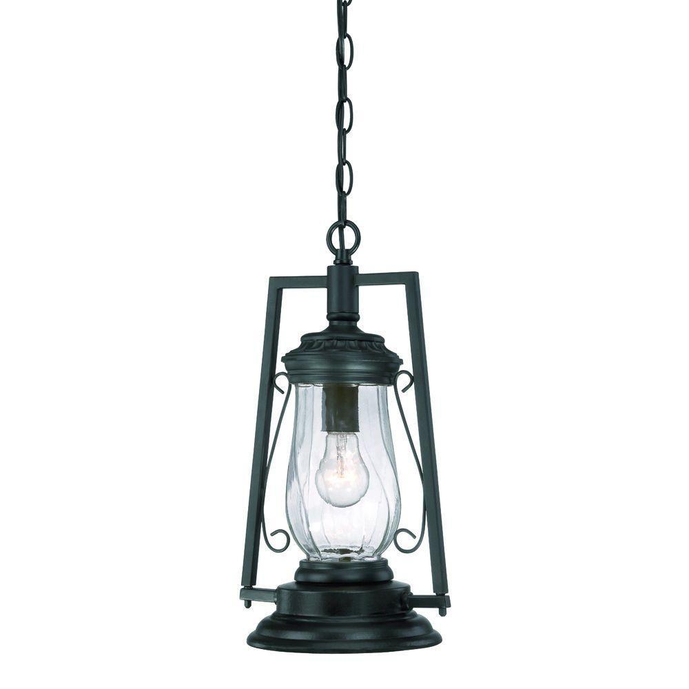 Acclaim Lighting Kero Collection 1 Light Matte Black Outdoor Hanging With Regard To Outdoor Hanging Lantern Lights (View 4 of 15)