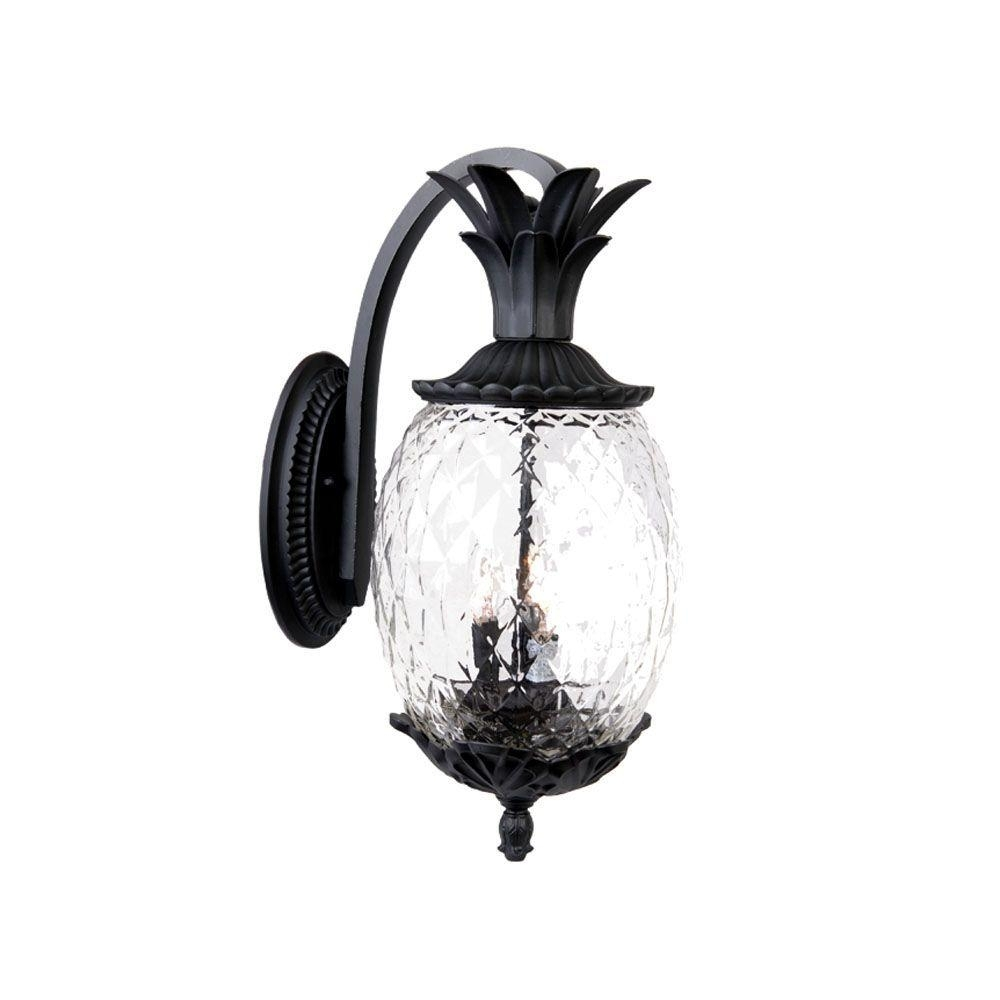 Acclaim Lighting Lanai Collection 3 Light Matte Black Outdoor Wall Inside Tropical Outdoor Wall Lighting (#1 of 15)