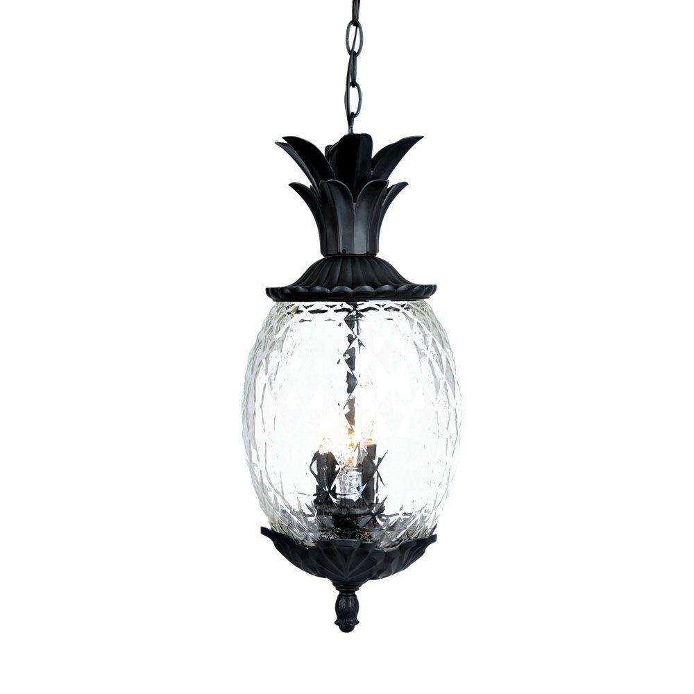 Acclaim Lighting Lanai Collection 3 Light Matte Black Outdoor Within Outdoor Hanging Light Fixtures In Black (View 12 of 15)