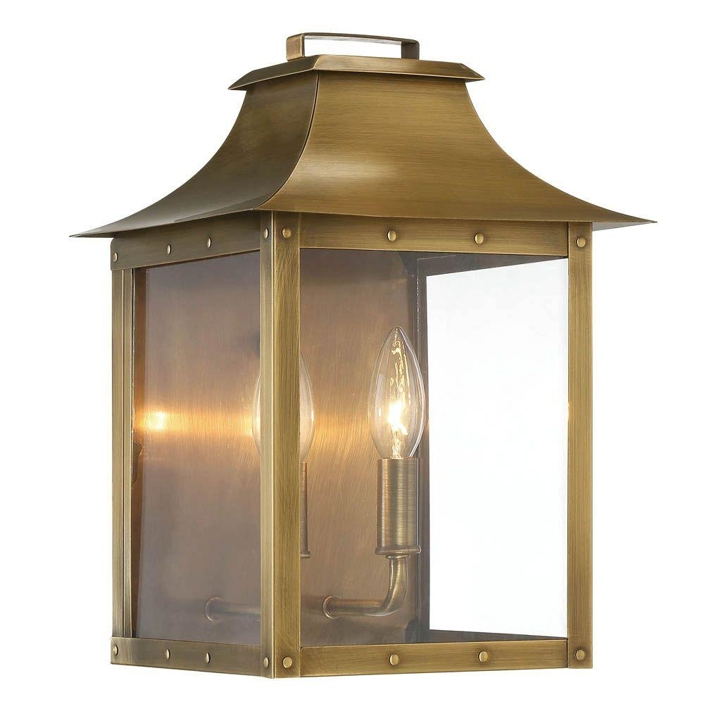 Acclaim Lighting Manchester Collection 2 Light Aged Brass Outdoor In Big Outdoor Wall Lighting (#2 of 15)