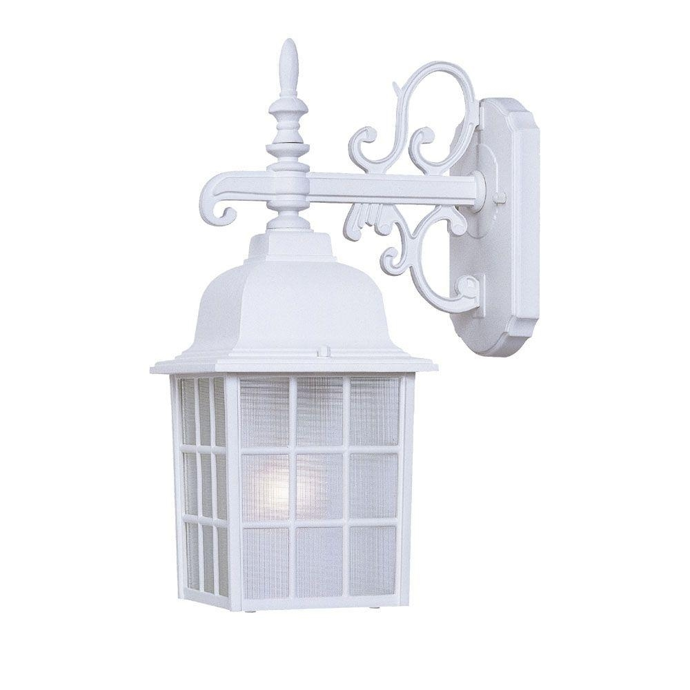 Acclaim Lighting Nautica Collection 1 Light Textured White Outdoor For White Outdoor Wall Lighting (#1 of 15)