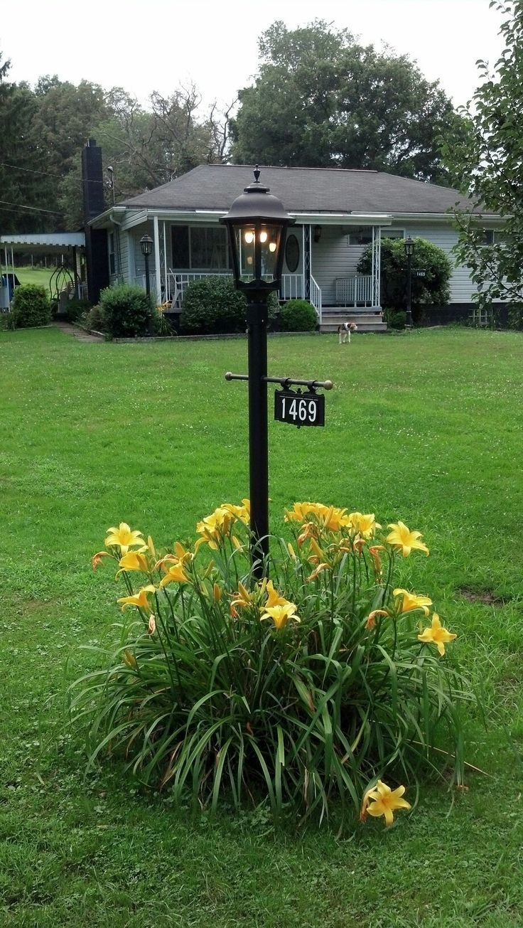Address Plaque Gas Street Lamp Post | Curb Appeal | Pinterest Pertaining To Outdoor Hanging Post Lights (#2 of 15)
