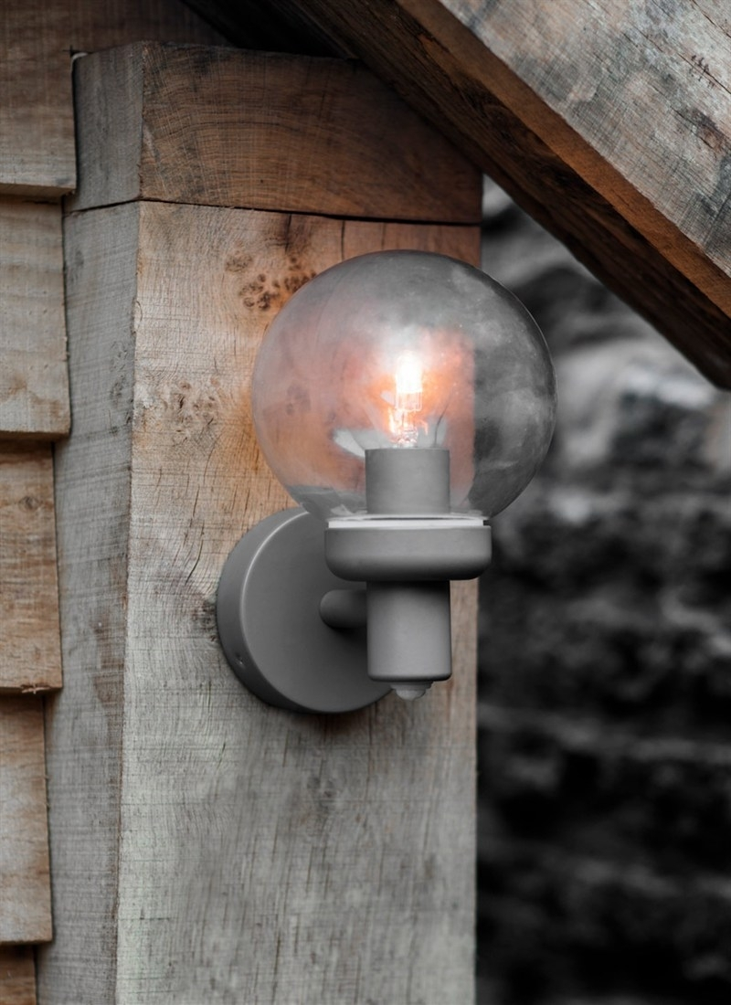 Aldgate Pir Outdoor Wall Lamp – Steel | Garden Trading Throughout Grey Outdoor Wall Lights (#1 of 15)
