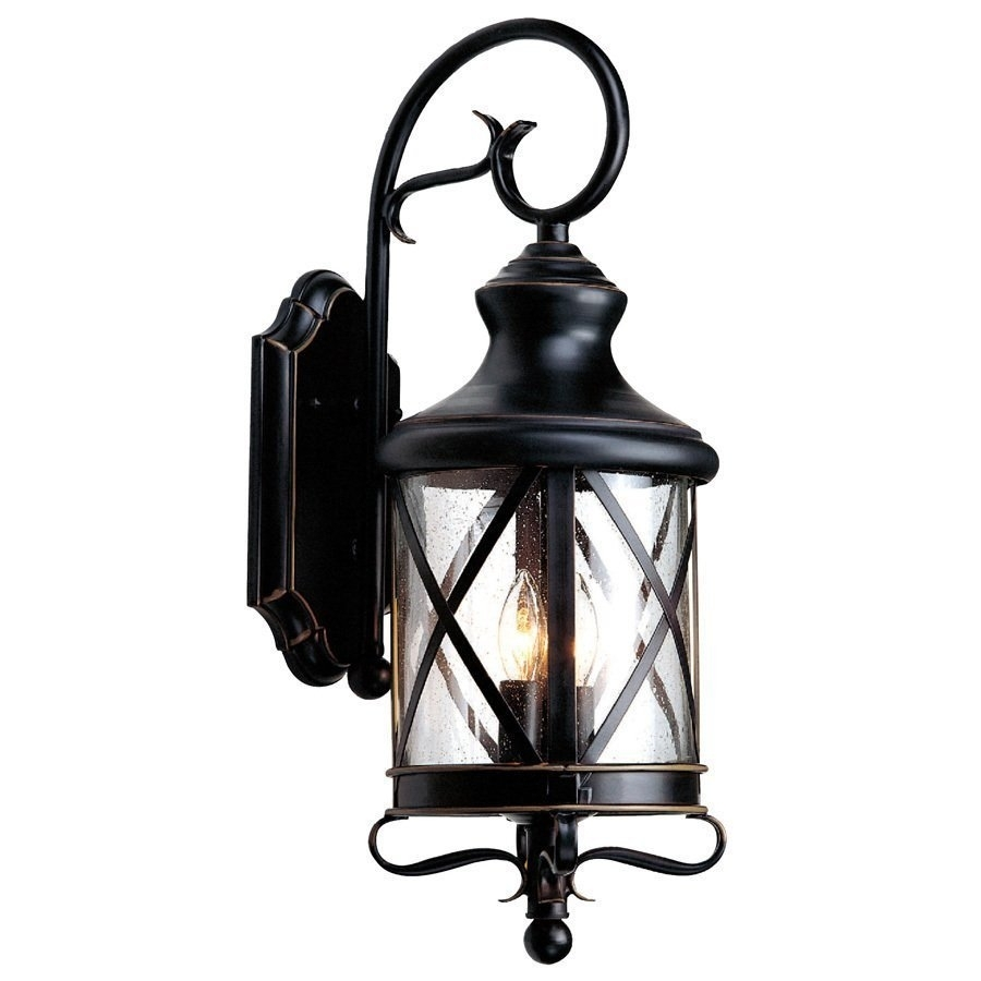 Allen + Roth 29 1/4 In Bronze Outdoor Wall Mounted Light | Lowe's Canada Inside Gothic Outdoor Wall Lighting (View 10 of 15)