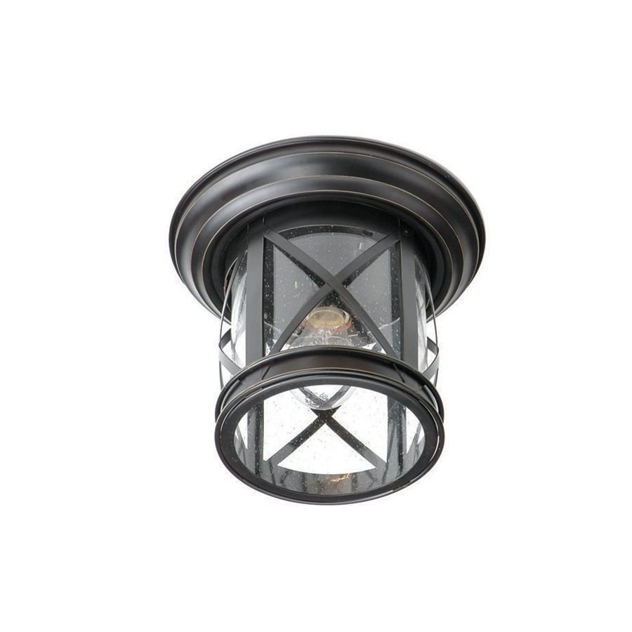 Allen + Roth Oil Rubbed Bronze Outdoor Flush Mount Light | Lowe's Canada In Outdoor Ceiling Lights At Amazon (#1 of 15)