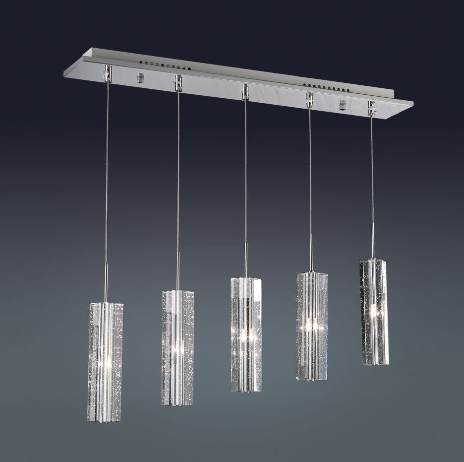 Alluring 5 Light Modern Pendant Lamp Interior Design Gray Cable Tube With Regard To Modern Pendant Lighting Fixtures (#1 of 15)
