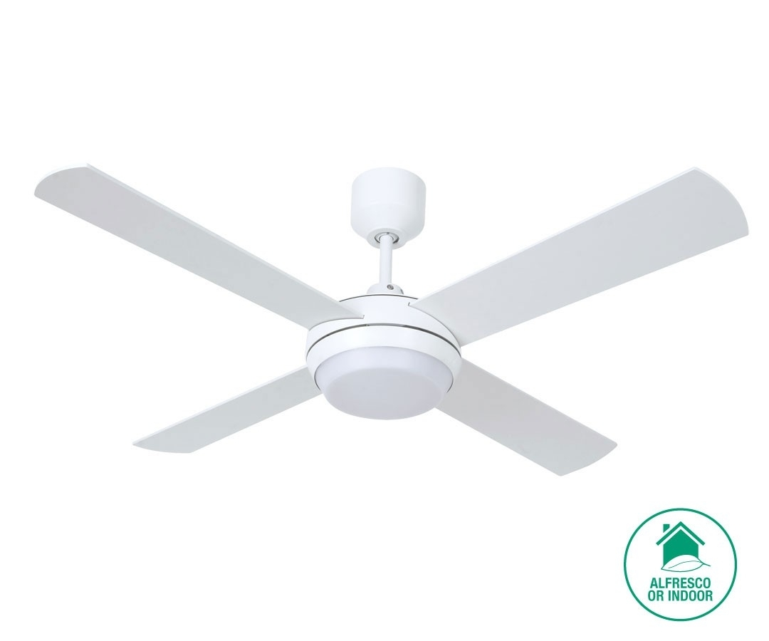Altitude Eco 132Cm Fan With Led Light In White With Outdoor Ceiling Fan Beacon Lighting (#2 of 15)