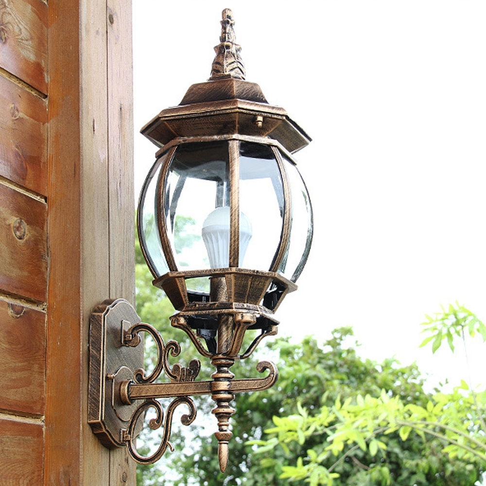 Aluminum Outdoor Wall Lights Garden Path Coach Wall Hanging Lights Within Hanging Outdoor Flood Lights (View 7 of 15)
