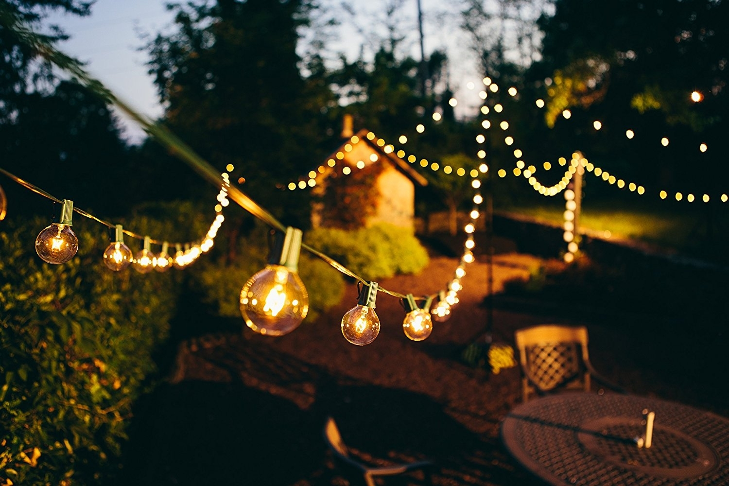 Amazon: Brightech – Ambience – Outdoor String Lights With 32 Inside Outdoor Hanging Lanterns At Amazon (View 4 of 15)