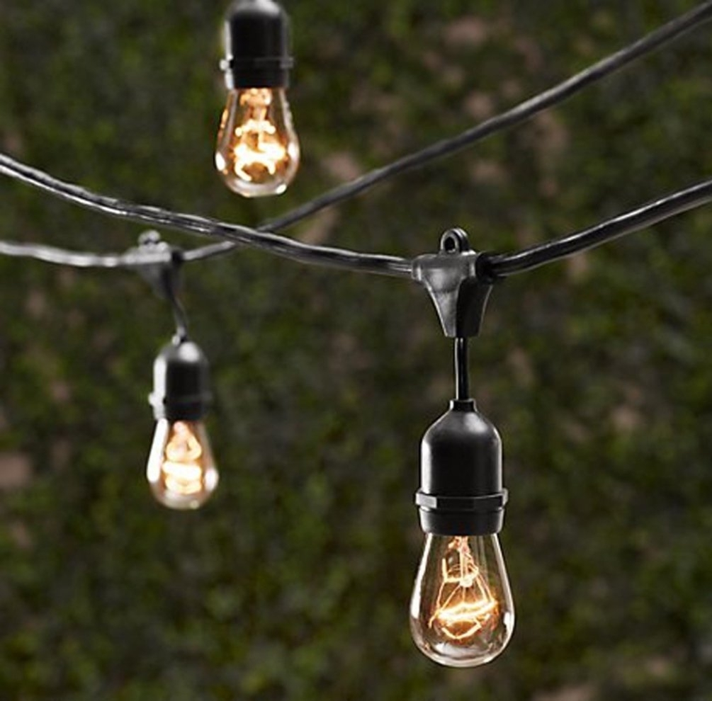 Amazon : String Light Company Vintage 32 Ft Outdoor Commercial With Regard To Outdoor Hanging Lights At Amazon (View 10 of 15)