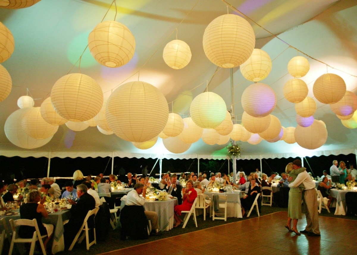 Appealing Paper Lantern Lights Outdoor With Round White Paper With Regard To Outdoor Hanging Paper Lanterns (#2 of 15)