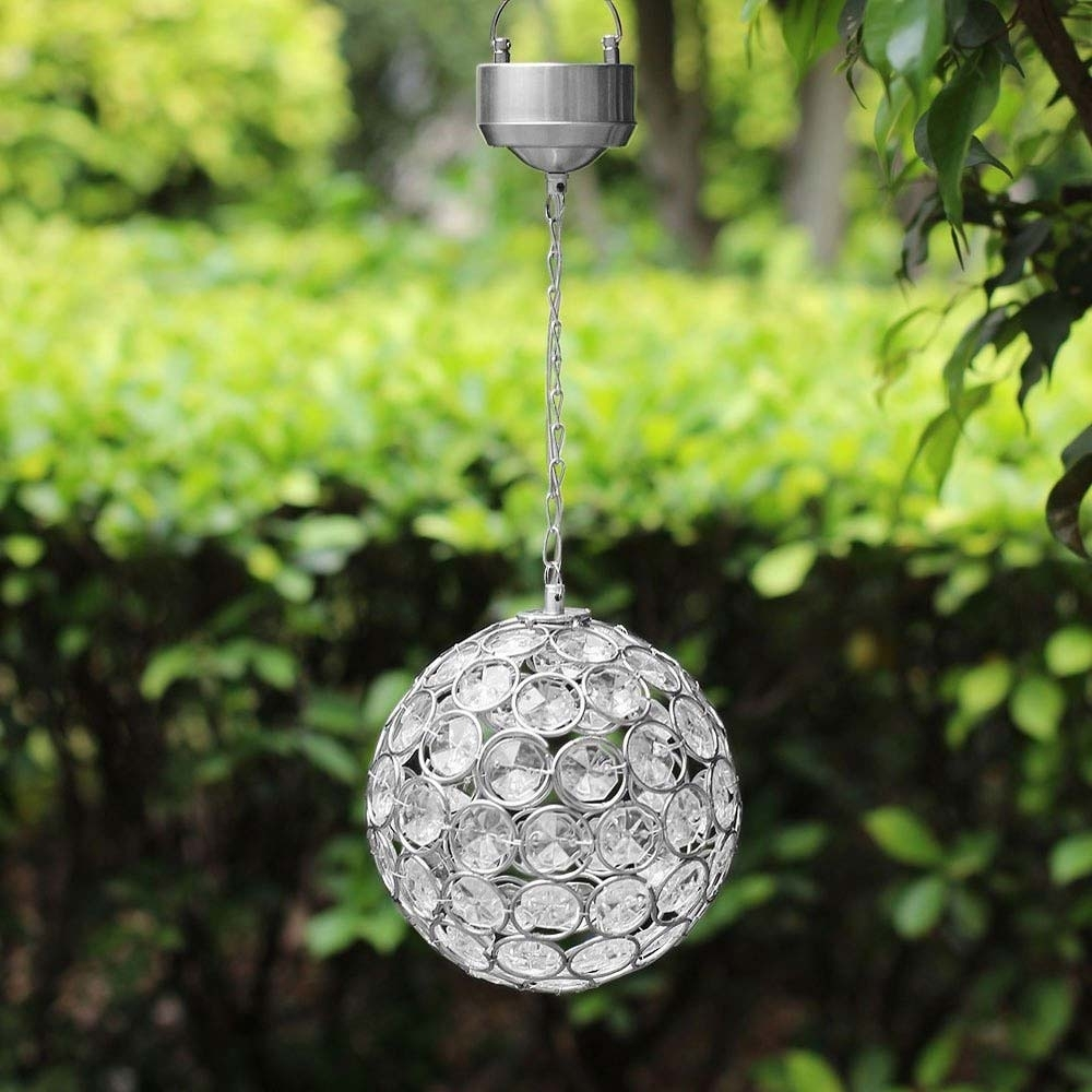 Aria Solar Hanging Crystal Ball Light For Outdoor Hanging Light Balls (View 12 of 15)