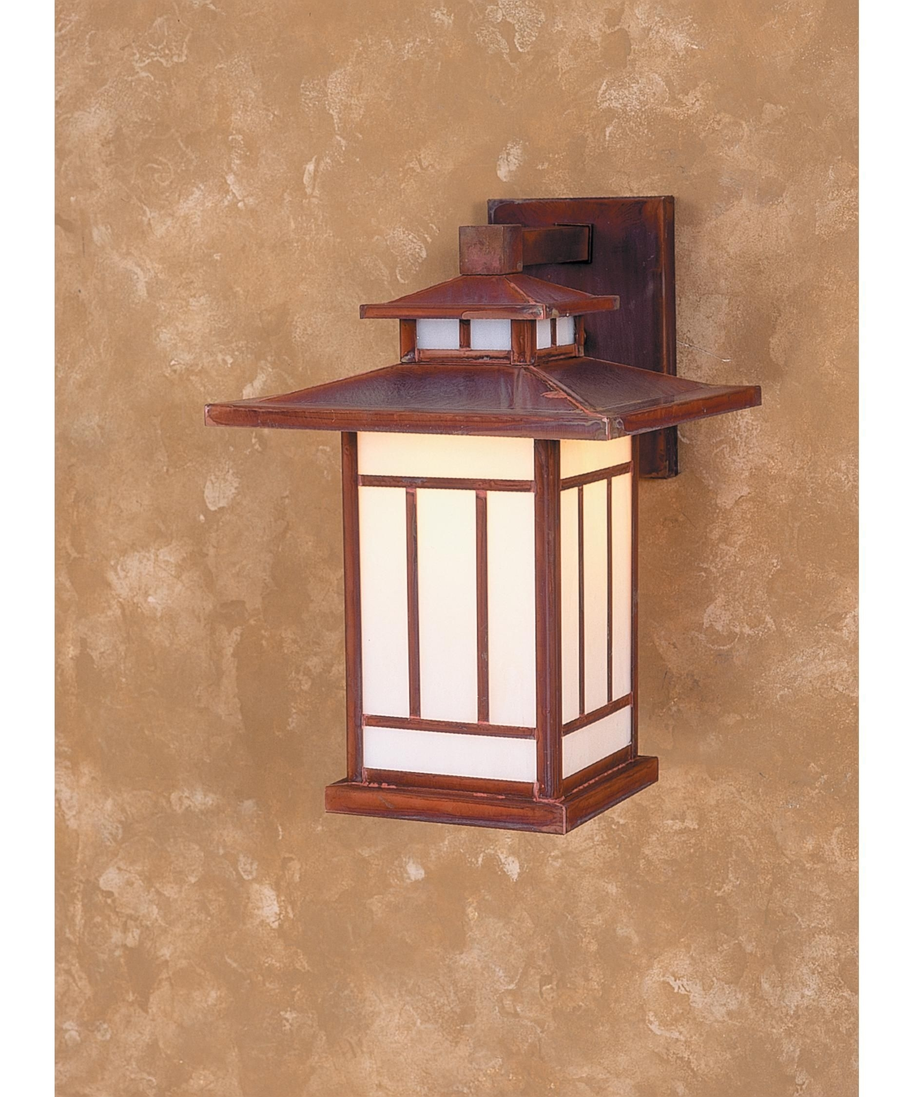 Arroyo Craftsman Kennebec Shown In Raw Copper Finish And White In Made In Usa Outdoor Wall Lighting (#1 of 15)