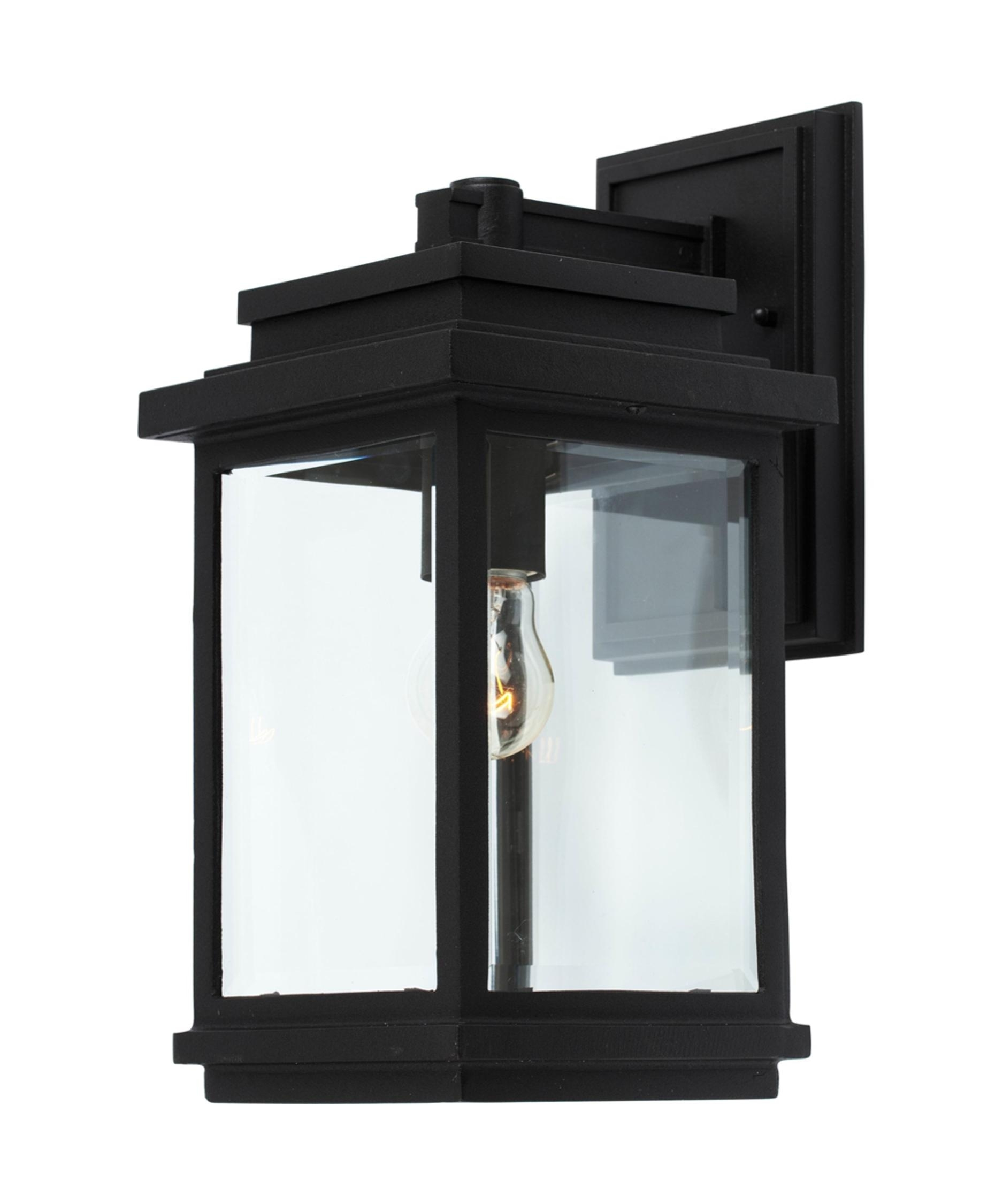 Artcraft Ac8290 Fremont 7 Inch Wide 1 Light Outdoor Wall Light With Outdoor Wall Lights In Black (#1 of 15)