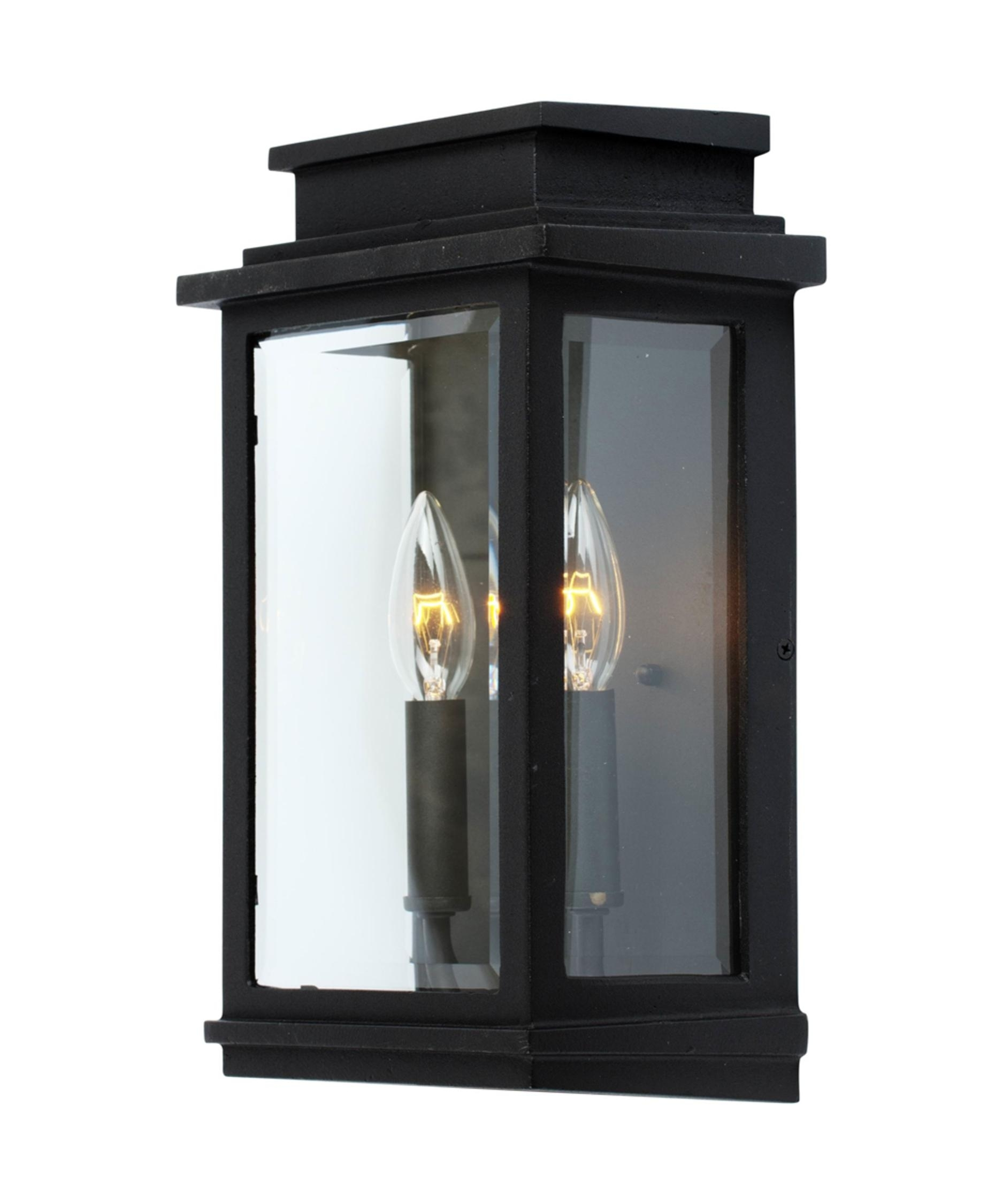 Artcraft Ac8391 Fremont 9 Inch Wide 2 Light Outdoor Wall Light Inside Outdoor Wall Lights In Black (#2 of 15)