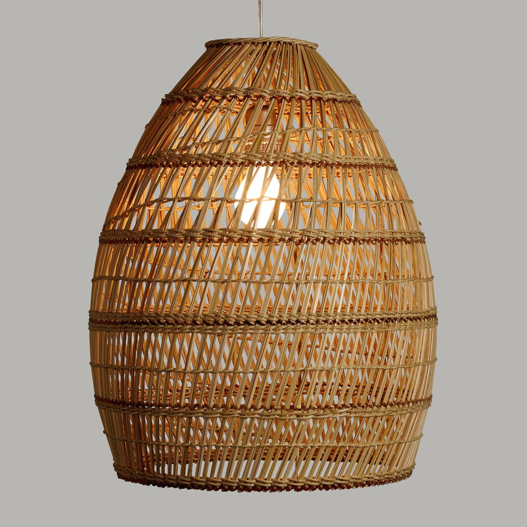Articles With Wicker Pendant Light Shade Uk Tag: Wicker Pendant Inside Outdoor Hanging Wicker Lights (View 4 of 15)