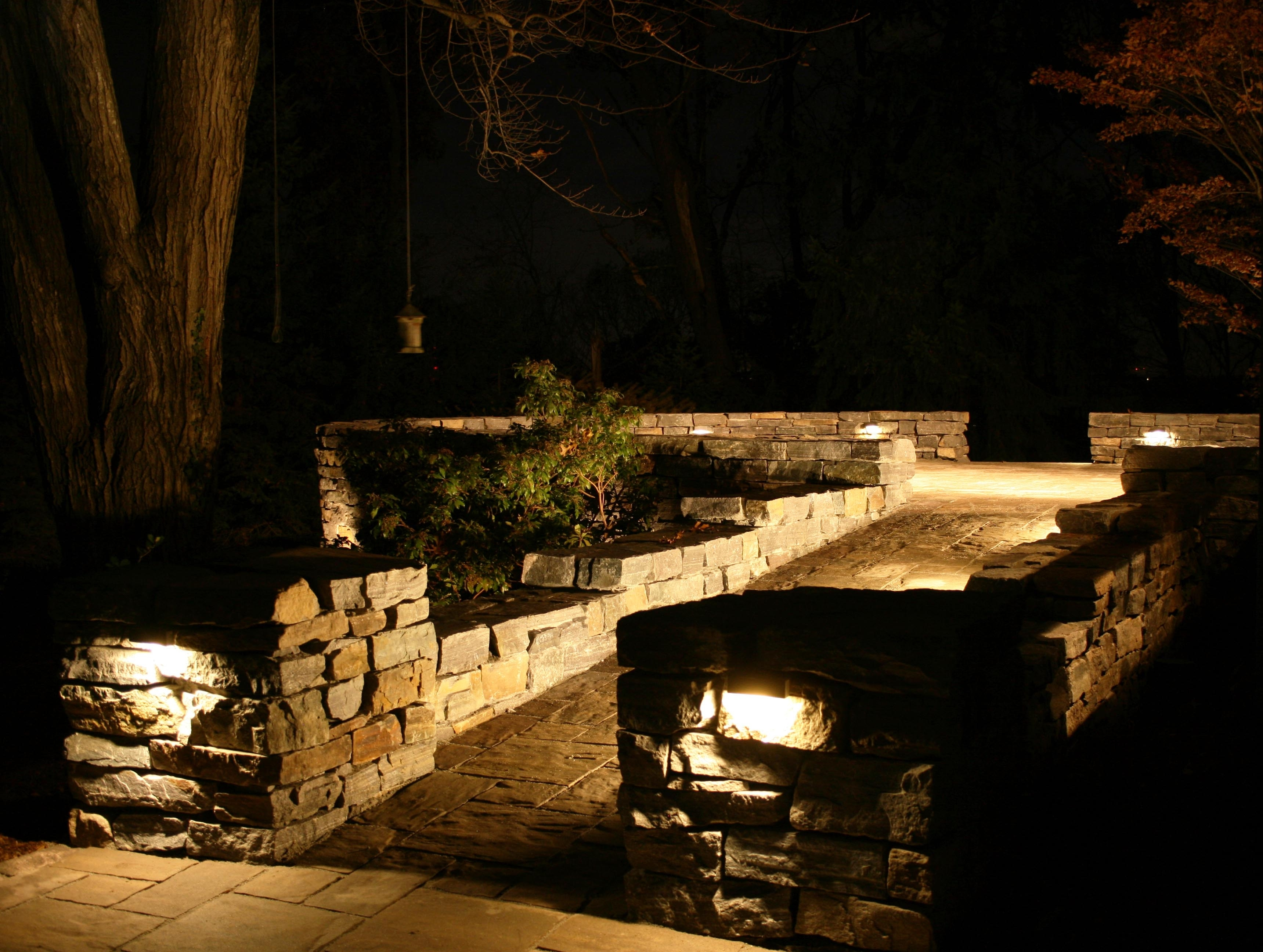 Artistic Landscapes Blog » 2014 » January Inside Outdoor Stone Wall Lighting (View 13 of 15)