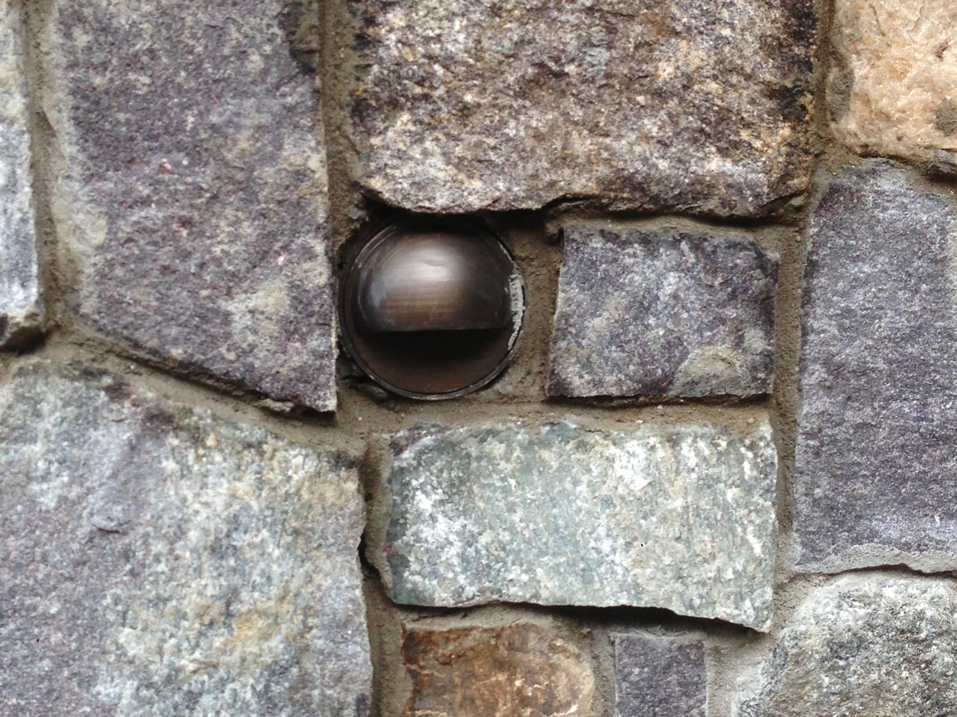 Artistic Landscapes Blog » Round Landscape Light In A Stone Wall Within Outdoor Stone Wall Lighting (View 5 of 15)