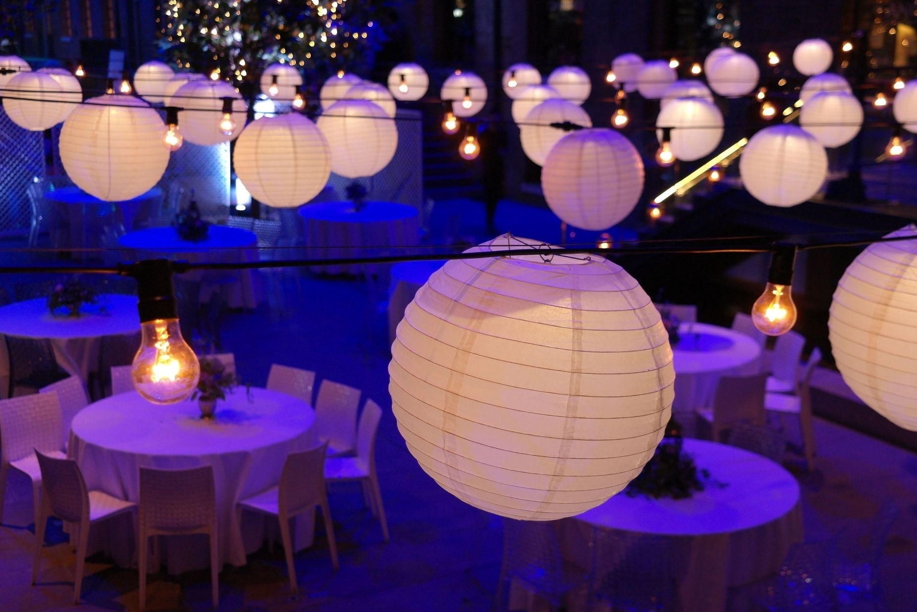 Astonishing Decoration White Theme Hanging Paper Lantern Lights For Intended For Outdoor Hanging Paper Lantern Lights (View 3 of 15)