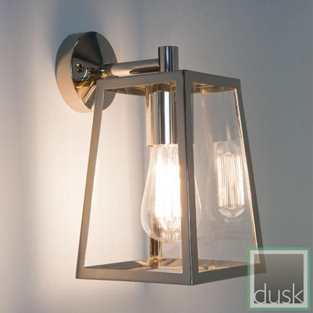 Astro (7106) Calvi Lantern Exterior Wall Light Polished Nickel For Nickel Polished Outdoor Wall Lighting (#2 of 15)