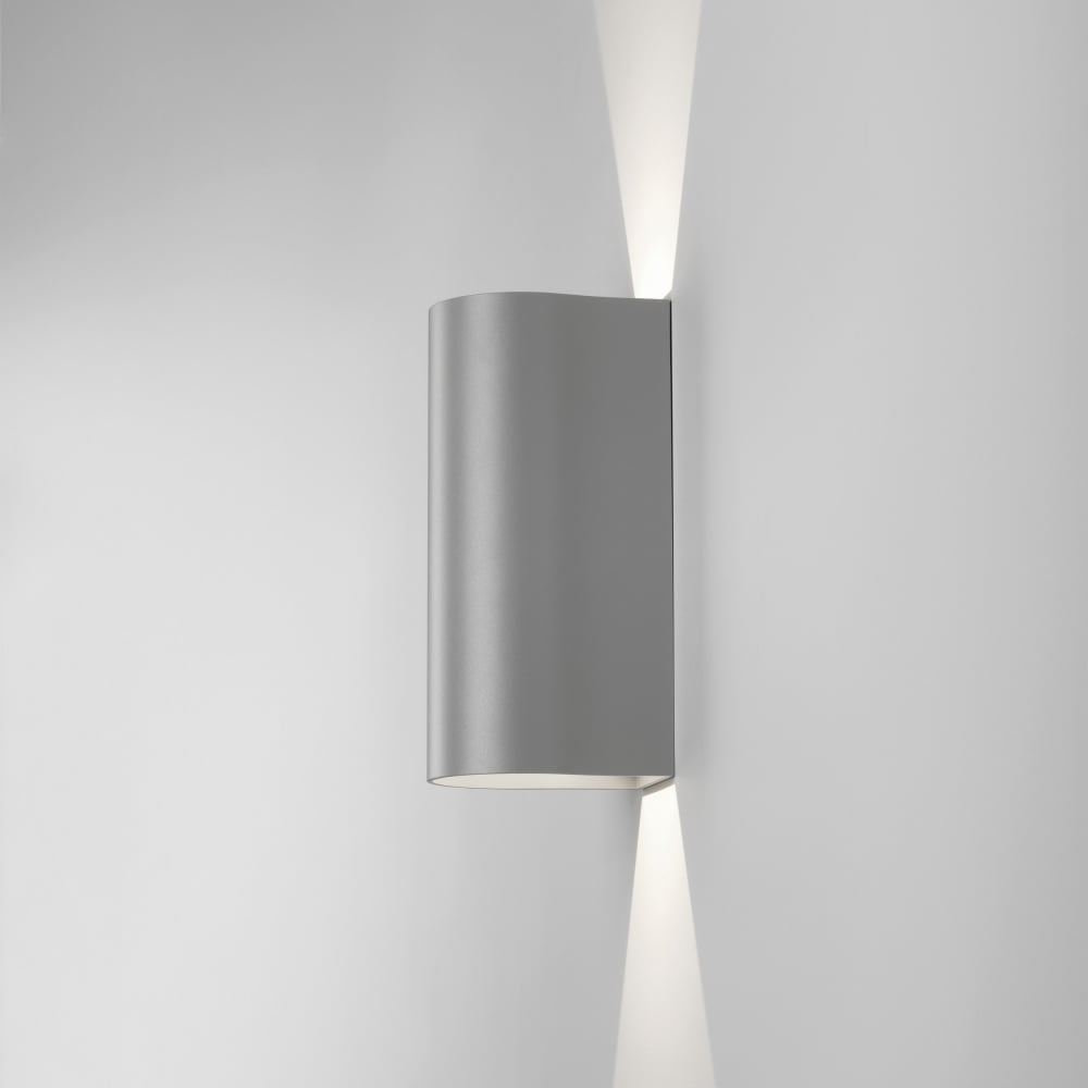 Astro 7993 Dunbar 255 Outdoor Led Up & Down Wall Light In Silver Within Ip65 Outdoor Wall Lights (#4 of 15)