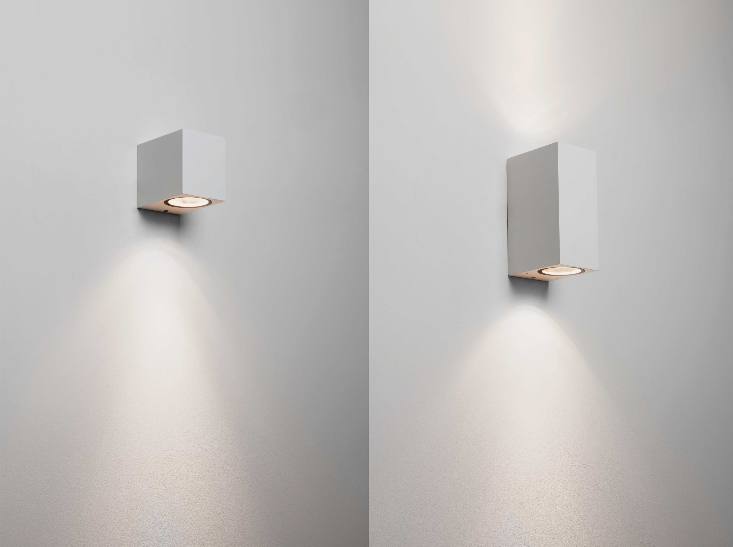 Astro Chios White External Outdoor Wall Lights Up Down Halogen 6W Intended For Outdoor Wall Lights In White (#1 of 15)