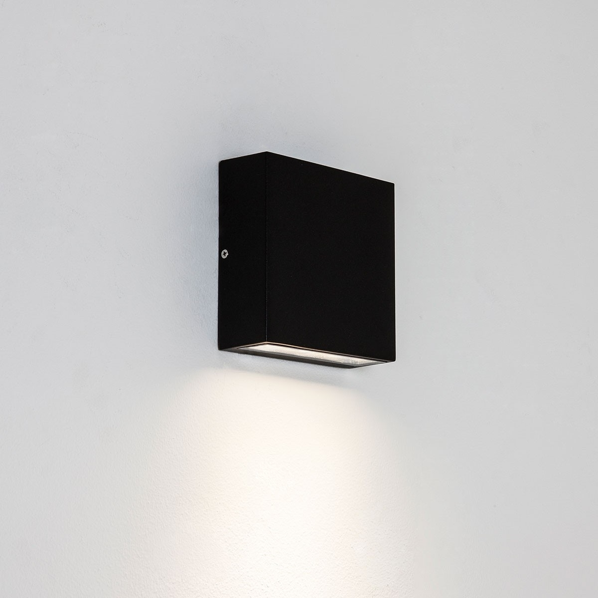 Astro Elis Single Black Outdoor Led Wall Light At Uk Electrical With Regard To Black Outdoor Led Wall Lights (#1 of 15)