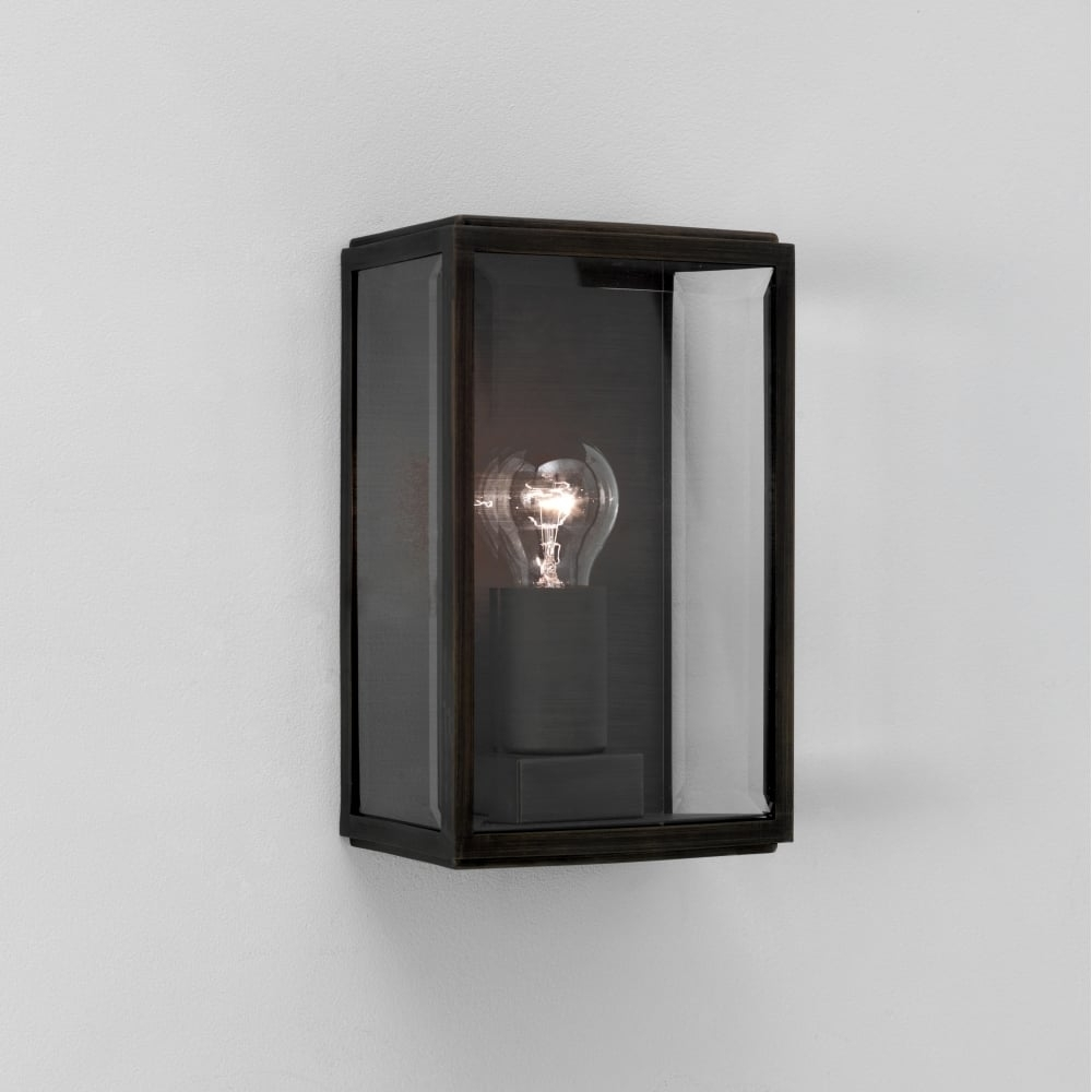 Astro Homefield 0483 Square Outdoor Wall Light With Regard To Grey Outdoor Wall Lights (#2 of 15)