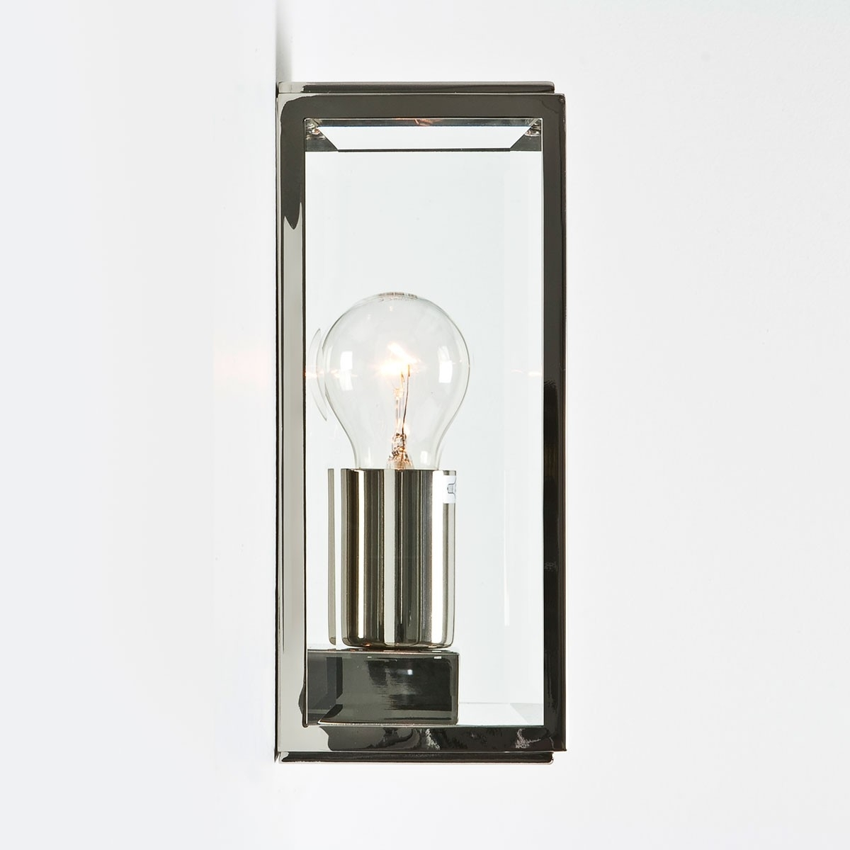 Astro Homefield Polished Nickel Outdoor Wall Light At Uk Electrical Inside Nickel Polished Outdoor Wall Lighting (#3 of 15)