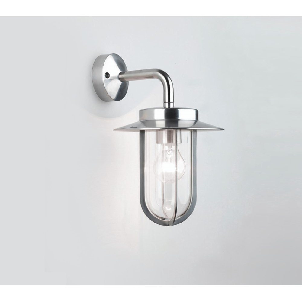 Astro Lighting 0484 Montparnasse Outdoor Wall Light Polished Nickel For Outdoor Wall Lights With Pir (View 8 of 15)
