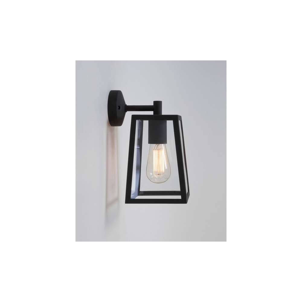 Astro Lighting 7105 Calvi 1 Light Outdoor Wall Light In Painted For Outdoor Wall Lights In Black (#4 of 15)