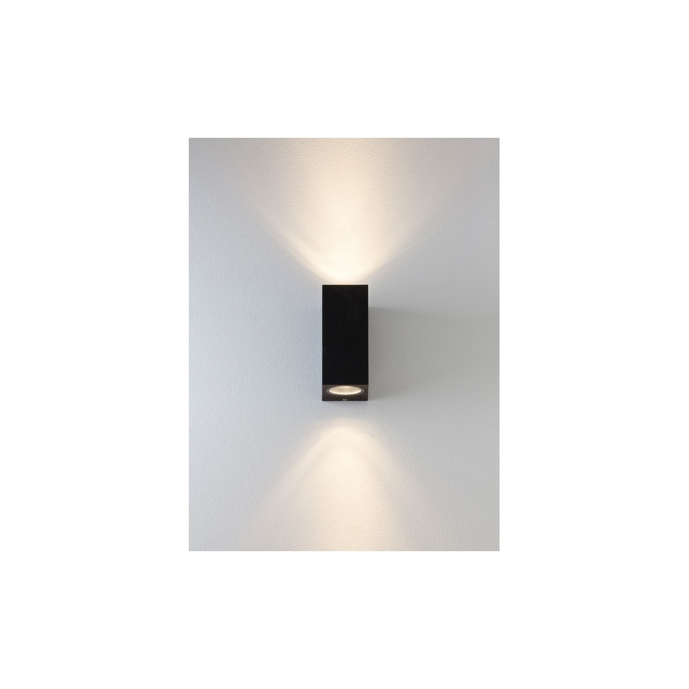 Astro Lighting 7128 Chios 150 Exterior Wall Light In Black Intended For Outdoor Exterior Wall Lighting (#4 of 15)