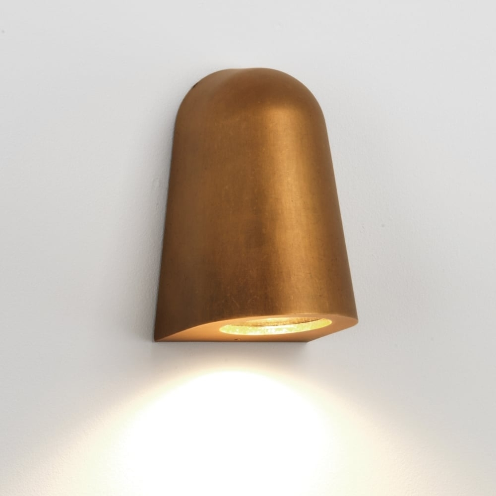 Astro Lighting 7836 Mast Ip65 Exterior Wall Light In Antique Brass Within Brass Outdoor Wall Lighting (#2 of 15)