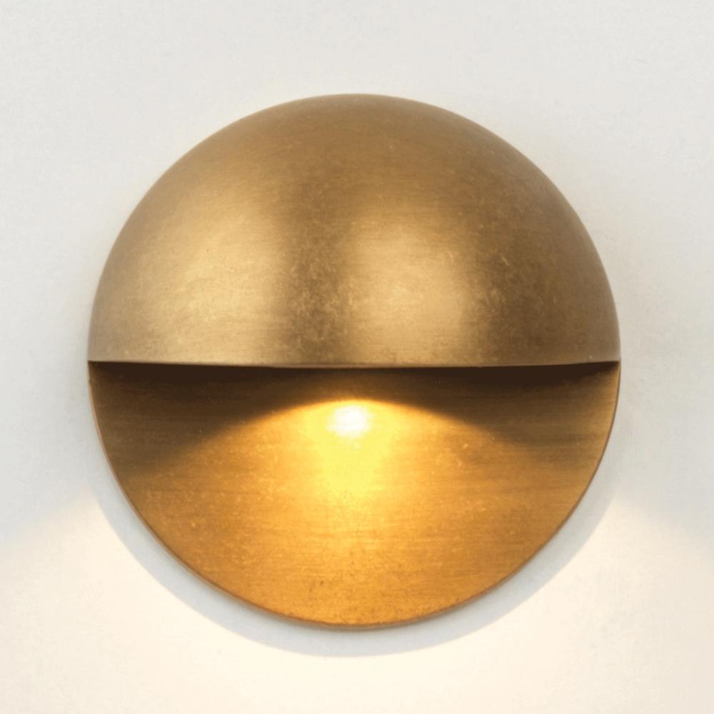 Astro Lighting 7845 Tivoli Led Antique Brass Ip65 Exterior Wall Light Inside Brass Outdoor Wall Lighting (#3 of 15)