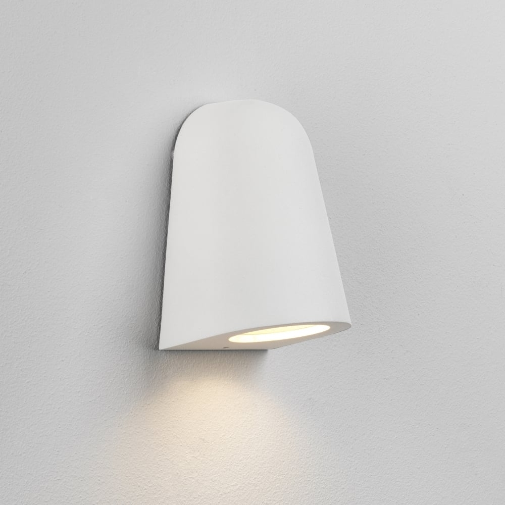 Astro Lighting 7965 Mast Light Exterior Outdoor Wall Light In White Intended For White Outdoor Wall Lighting (#2 of 15)