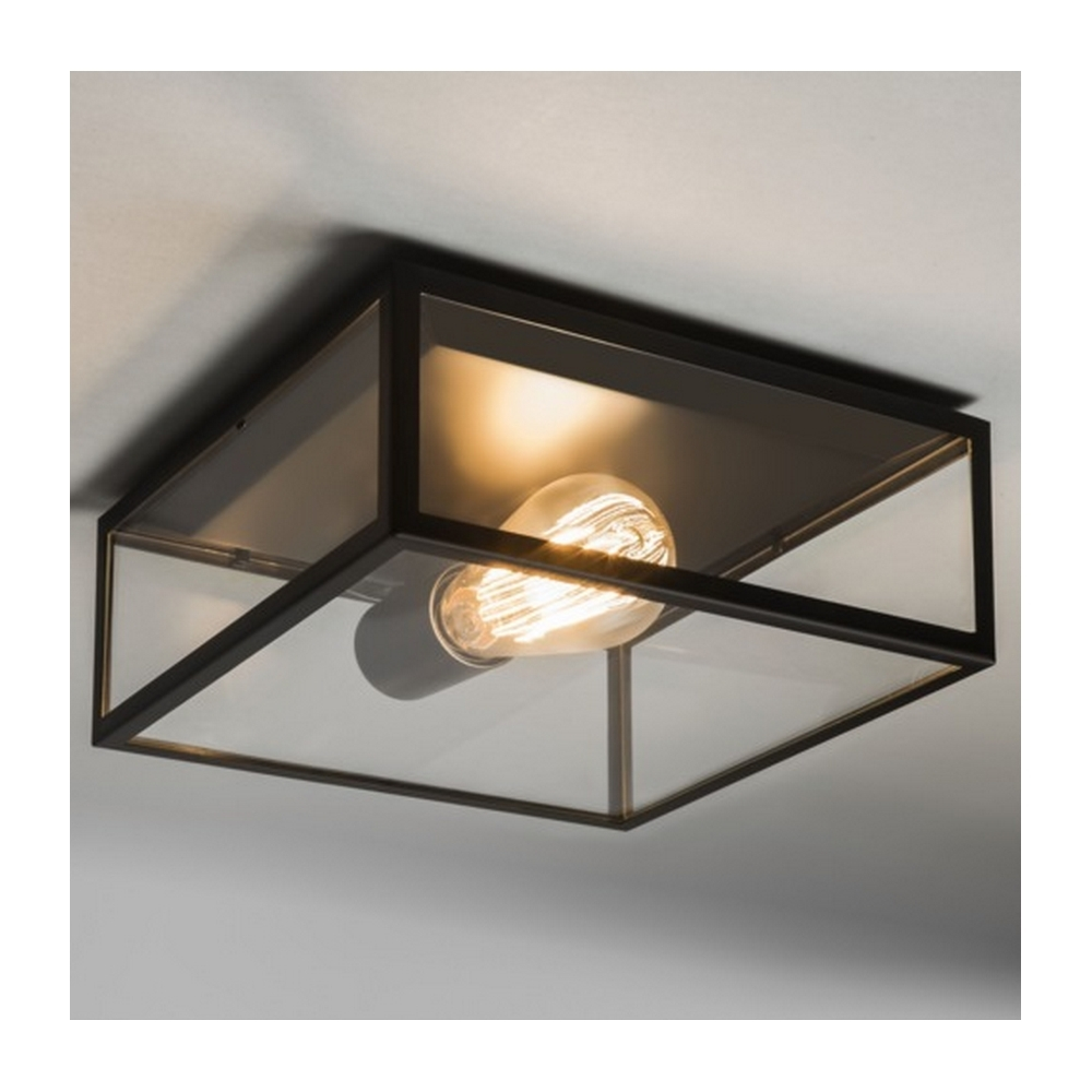 Astro Lighting Bronte Vintage Outdoor Ceiling Light In Black Finish With Outdoor Ceiling Lights (#3 of 15)