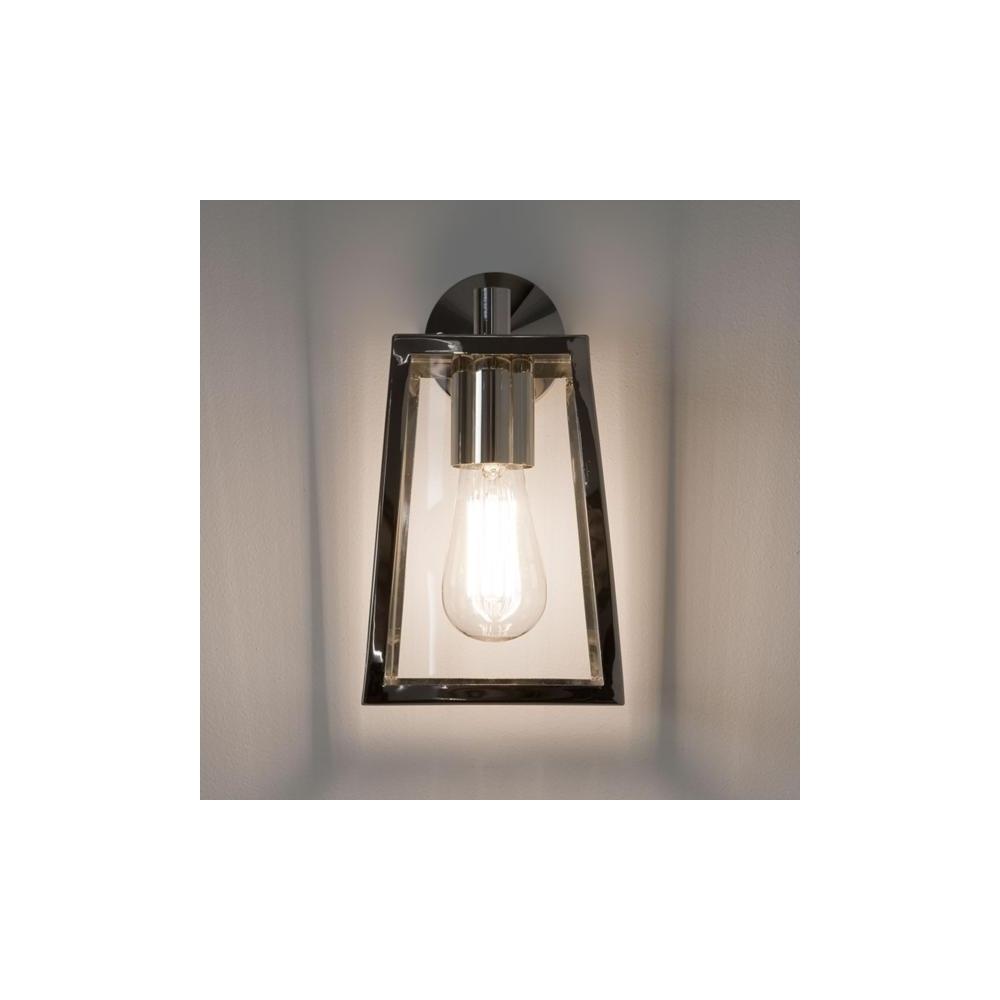 Astro Lighting Calvi Wall 7106 Polished Nickel Exterior Wall Light With Nickel Polished Outdoor Wall Lighting (#6 of 15)