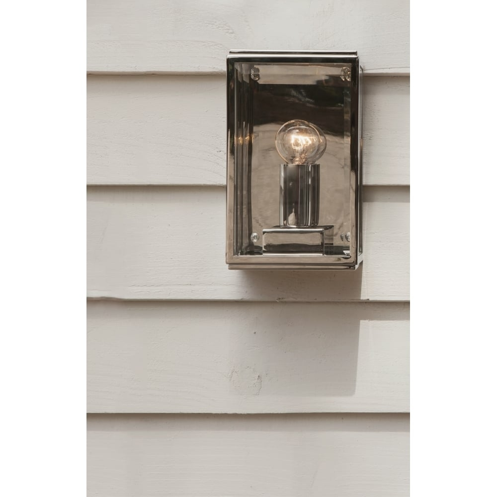 Astro Lighting Outdoor Wall Light In Polished Nickel Finish For Nickel Polished Outdoor Wall Lighting (#7 of 15)
