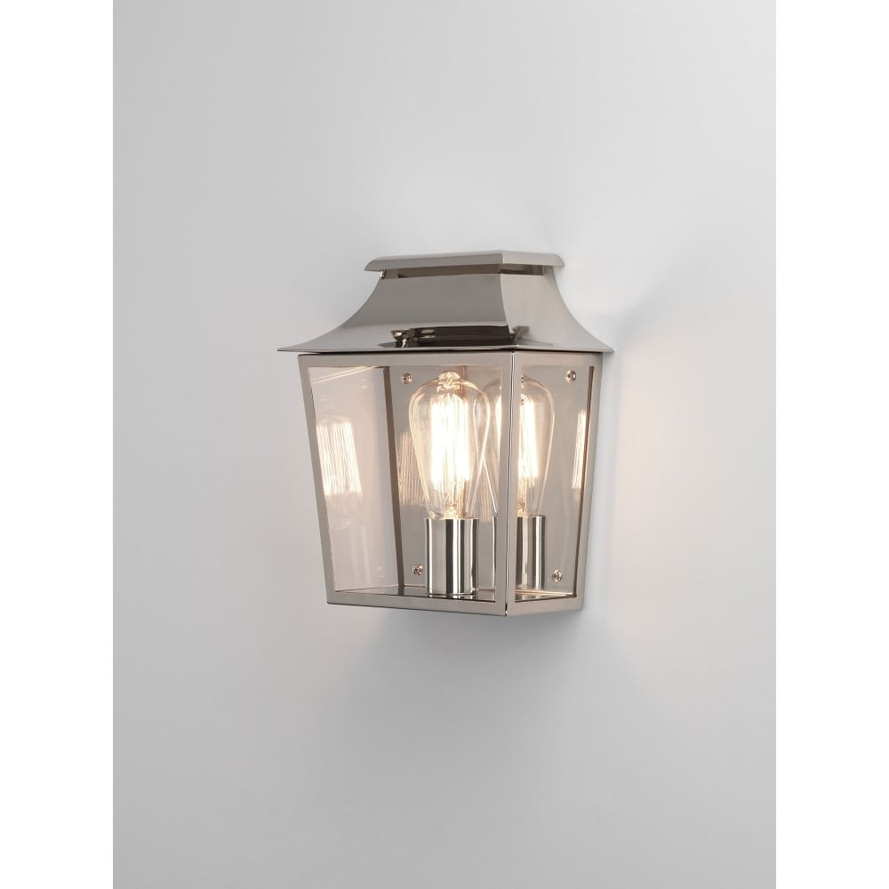Astro Lighting Richmond 235 Single Light Outdoor Wall Fitting In Within Nickel Polished Outdoor Wall Lighting (#8 of 15)