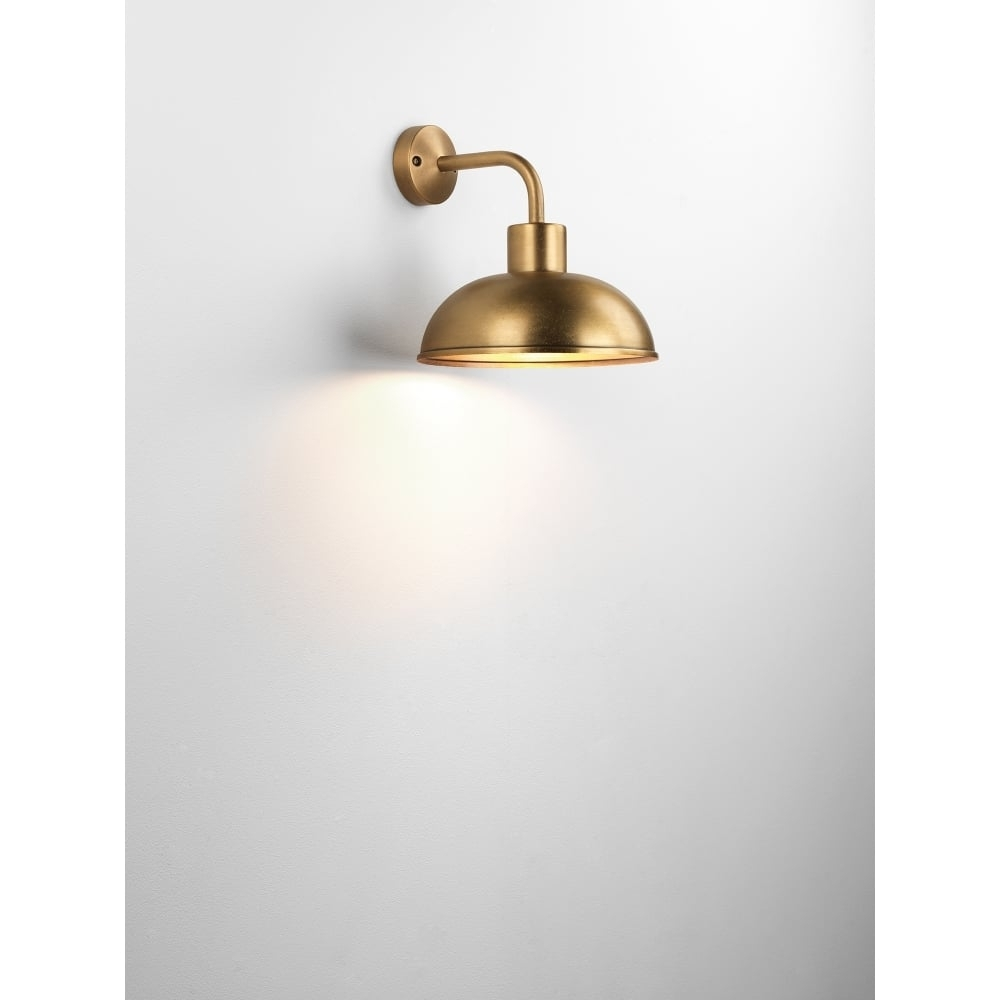 Astro Lighting Stornoway Single Light Outdoor Wall Fitting In With Brass Outdoor Wall Lighting (#4 of 15)
