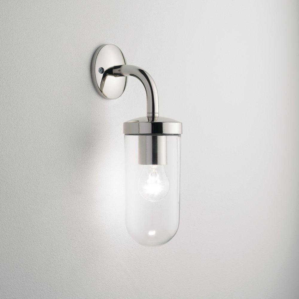 Astro Lighting Tressino 0913 Polished Nickel Outdoor Wall Light For Nickel Polished Outdoor Wall Lighting (#9 of 15)