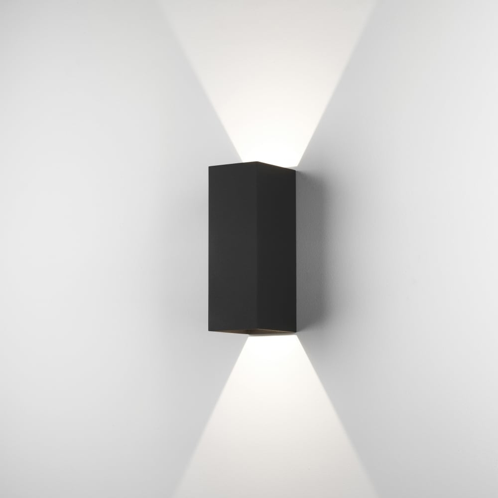 Astro Oslo 225 Led Outdoor Wall Light Ip65 Black Inside Ip65 Outdoor Wall Lights (#6 of 15)