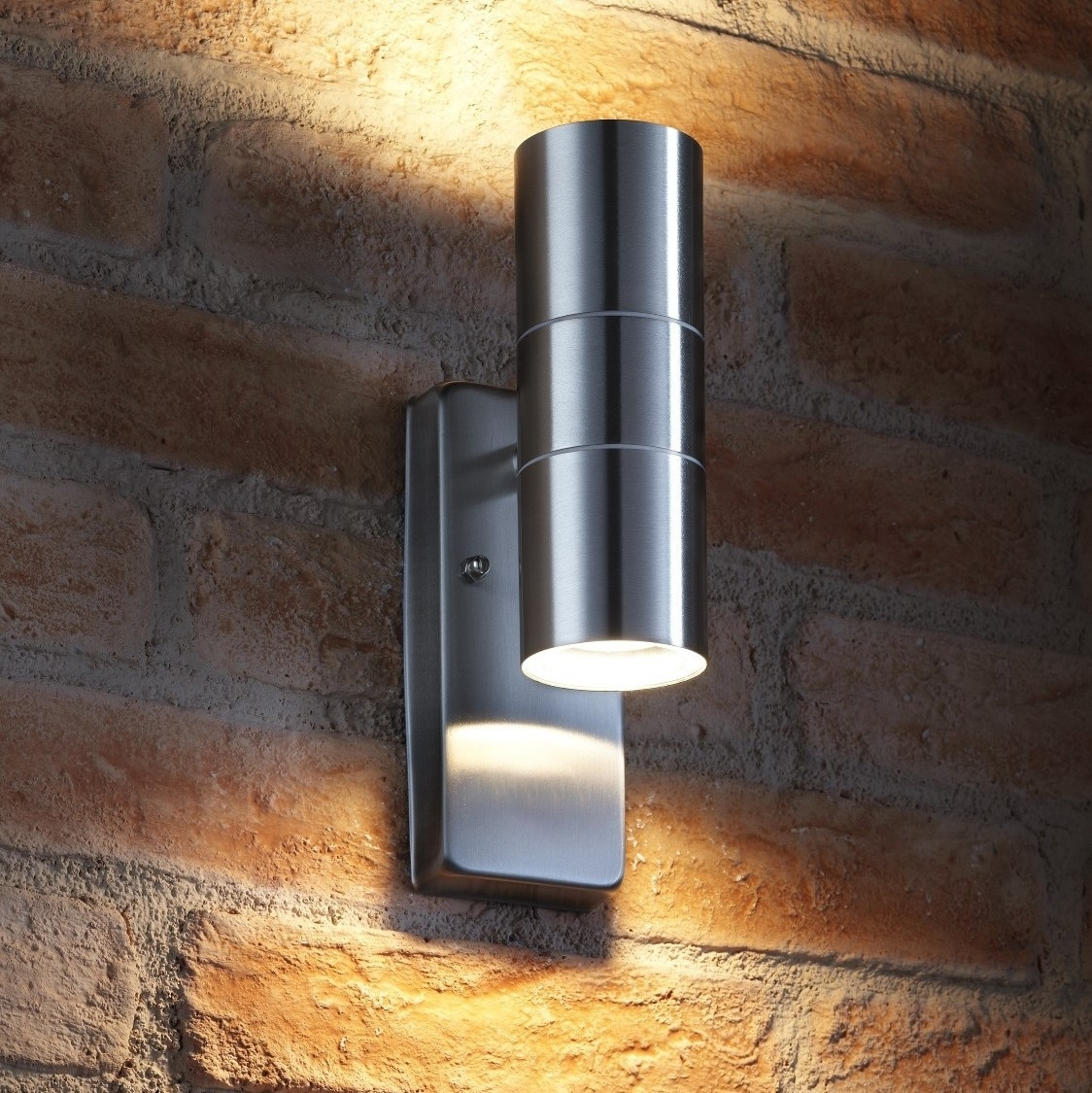 Auraglow Dusk Till Dawn Sensor Up & Down Outdoor Wall Light Throughout Dawn Dusk Outdoor Wall Lighting (#1 of 15)