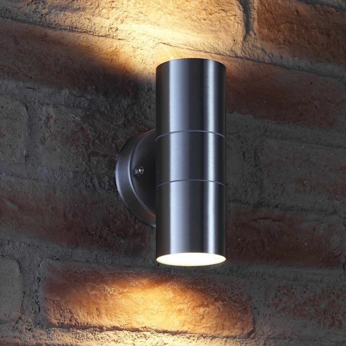 Auraglow Up & Down Outdoor Wall Light – Winchester  Stainless Steel Intended For Outdoor Up Down Wall Led Lights (#3 of 15)