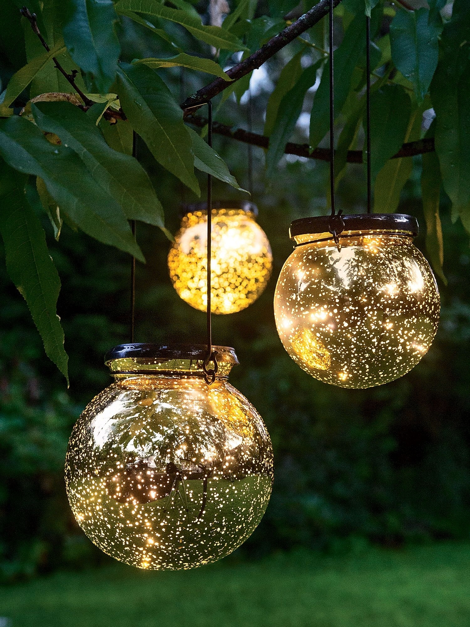Awesome Garden Lights For Your Sweet Backyard | Solar Lights Regarding Outdoor Hanging Sphere Lights (View 4 of 15)