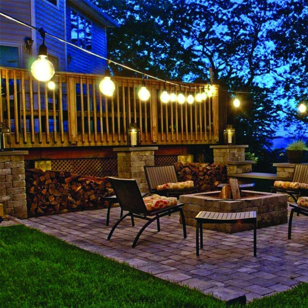 Backyard String Lights Best Patio Stringights Ideas Onighting Inside Contemporary Outdoor String Lights At Target (#6 of 15)