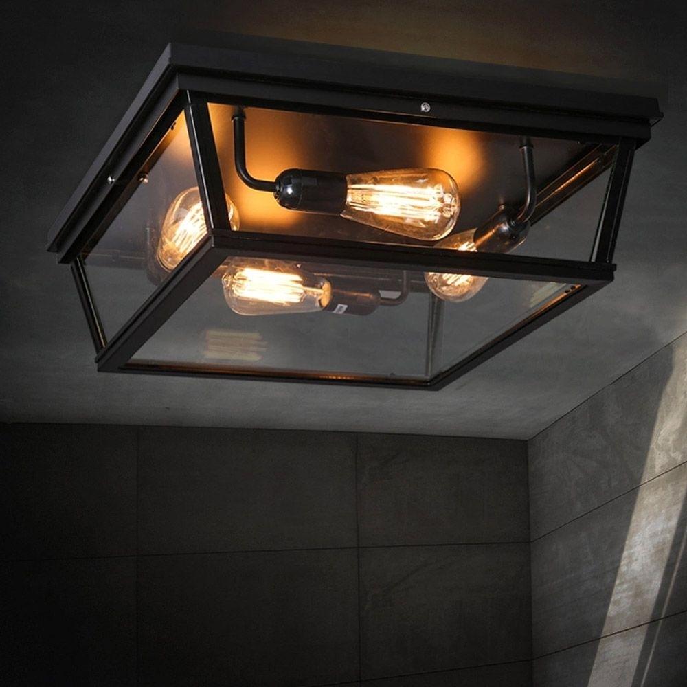 Badkamer 1E Verdieping? Loft Square Outdoor Ceiling Lights Intended For Black Outdoor Ceiling Lights (#5 of 15)