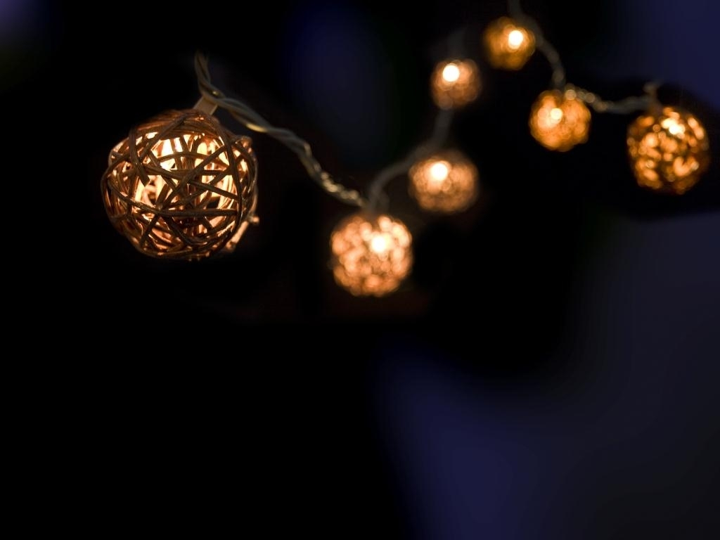 Bamboo Hanging Light Strings | Fall To Christmas 2013 Intended For Outdoor Hanging Lights Bulbs (#1 of 15)